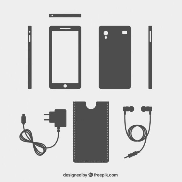 626x626 Mobile Phone And Accessories Vector Free Download