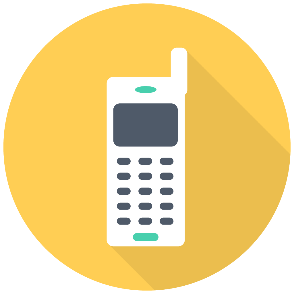 1024x1024 Collection Of Free Vector Phone Flat. Download On Ubisafe