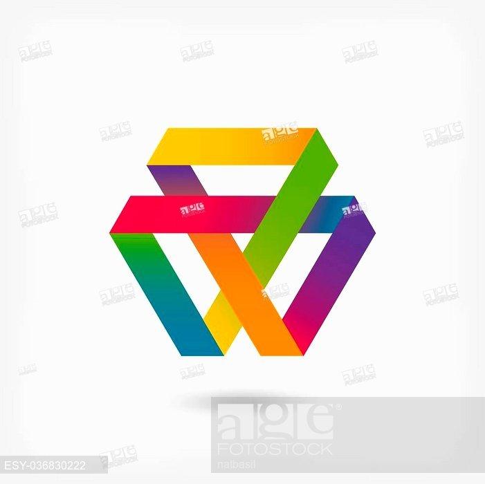 701x700 Mobius Strip Multi Color Symbol