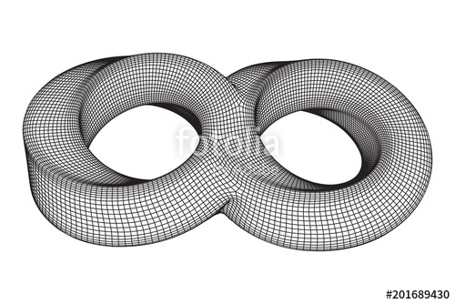 500x334 Mobius Strip Ring Infinity Sacred Geometry. Spatial Figure With