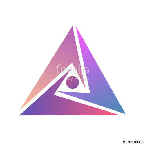 500x500 Abstract Logo Design. Logo Triangle Template. Vector Triangle