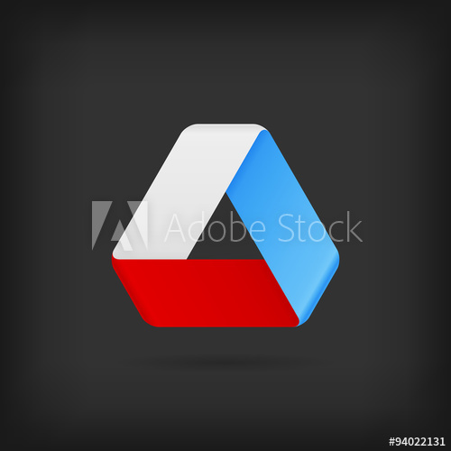 500x500 Logo Or Emblem Template. Vector Icon. Infinite Mobius Strip