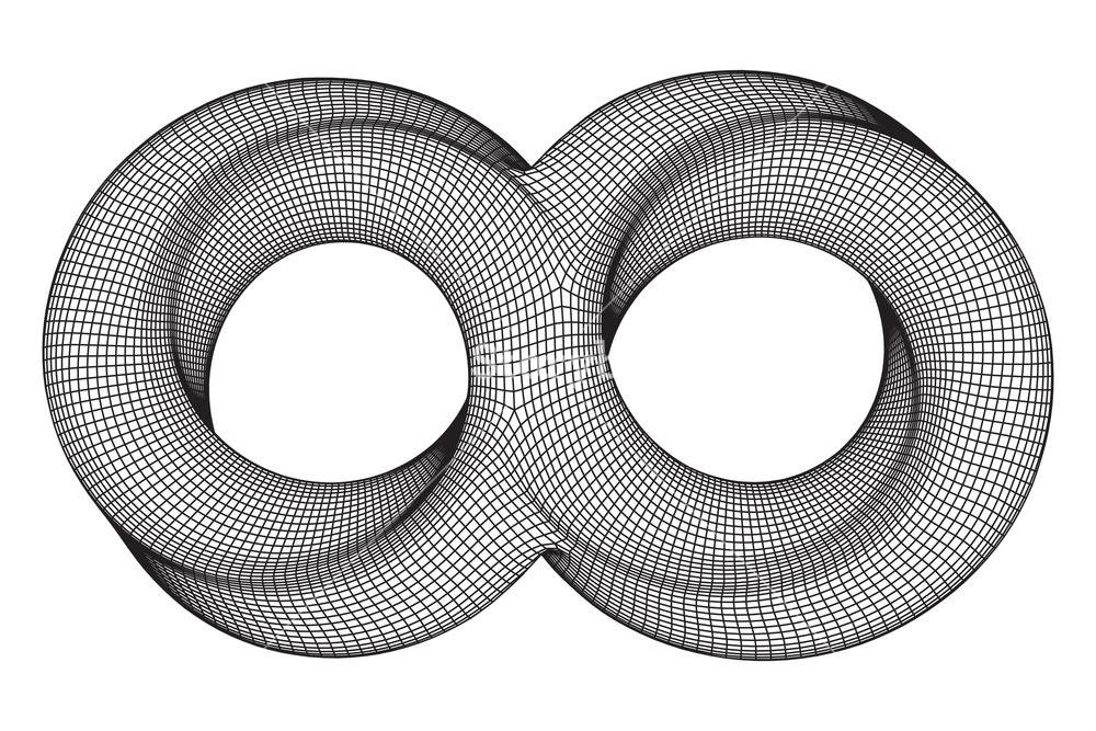 1000x667 Mobius Strip Ring Infinity Sacred Geometry. Spatial Figure With