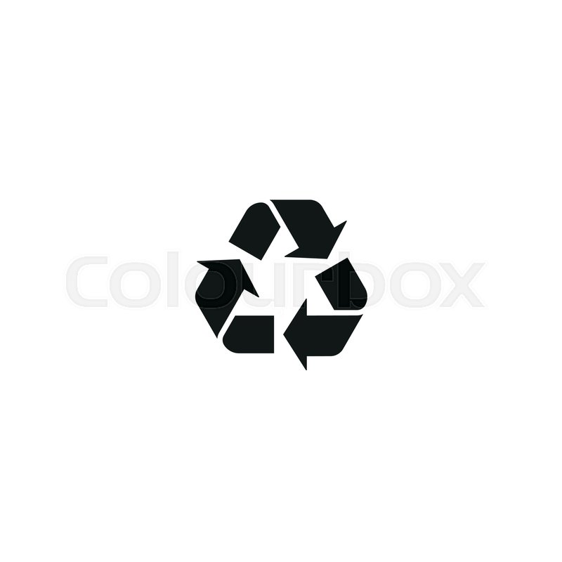 800x800 Recycling Symbol Isolated On White Background Vector Illustration