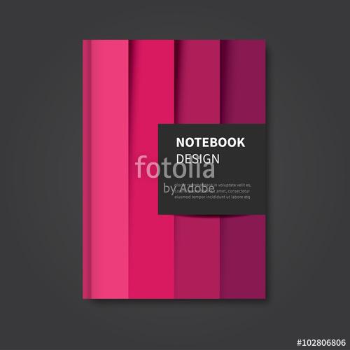 500x500 Modern Vector Design Modern Abstract Notebook, Brochure, Book