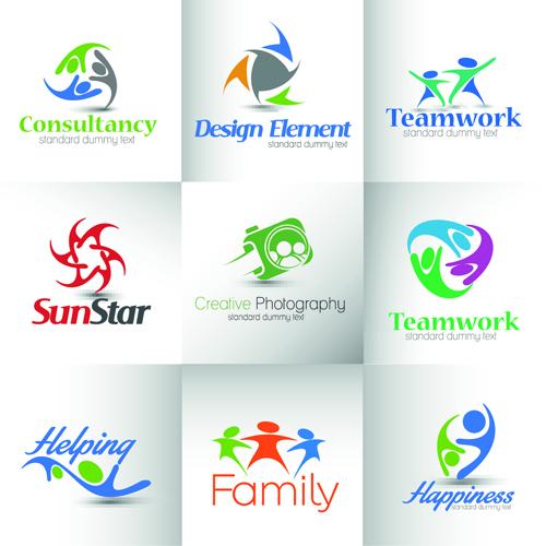 500x500 Modern Business Logos Design Art Vector 02 Free Download