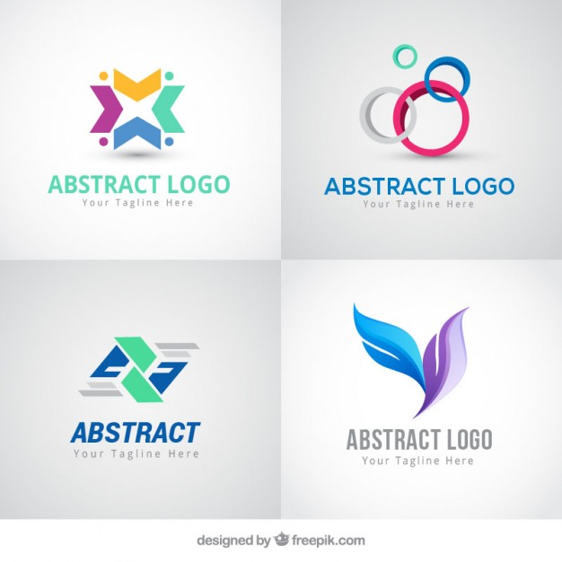 626x626 Abstract Colored Logos In Modern Style Vector Free Download
