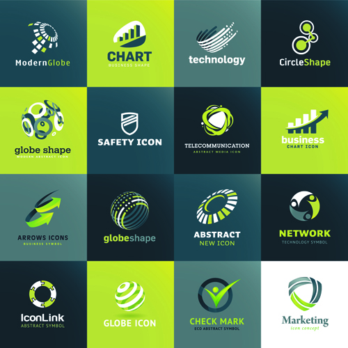 500x500 Modern Technology Style Logos Vector Free Download