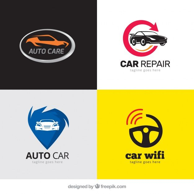 626x626 Pack Of Modern Logos With Cars Vector Free Download Logo