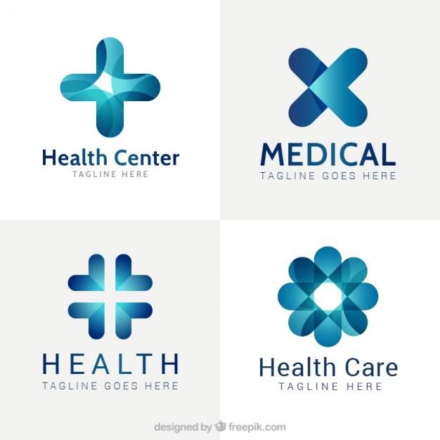 626x626 Blue Modern Medical Center Logos Vector Free Download