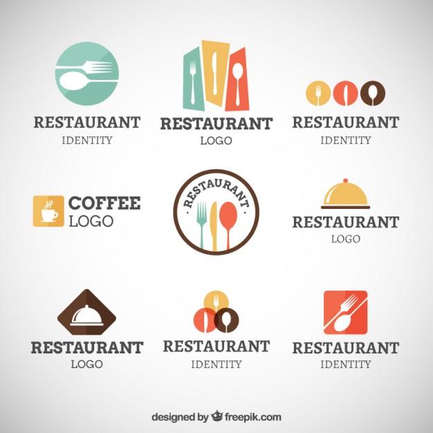 626x626 Restaurant Modern Logo Collection Vector Premium Download