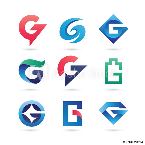 500x500 Set Of Letter G Logo Vector