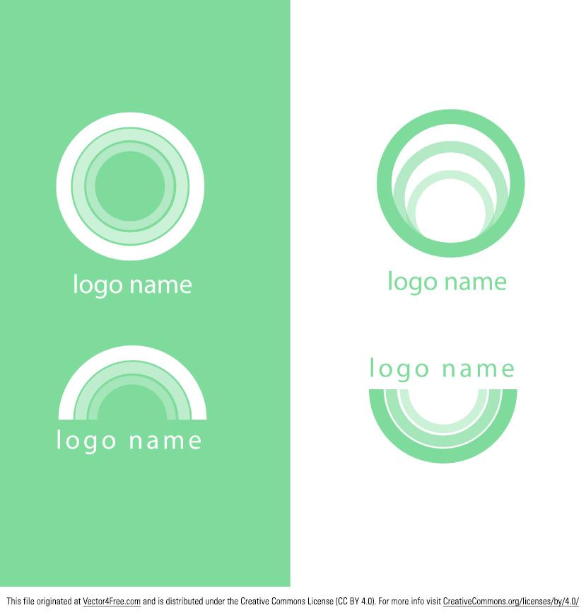 829x869 Free Modern Green Logo Vector Pack
