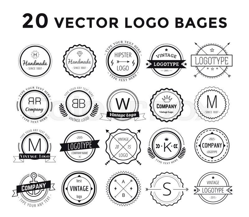 800x696 Massive Logo Set Bundle. Vector Logo Set. Old Style Modern Flat