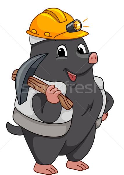 427x600 Miner Mole Vector Illustration Lenm ( 4817220) Stockfresh