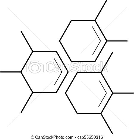 450x469 Molecule Vector Line Icon. Molecule Vector Line Icon Isolated On