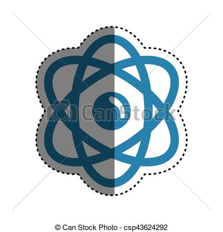 450x470 Atom Science Molecule Icon Vector Illustration Graphic Design.