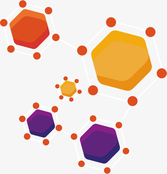 650x675 Color Hexagonal Molecule, Vector Png, Molecule, Hexagon Png And