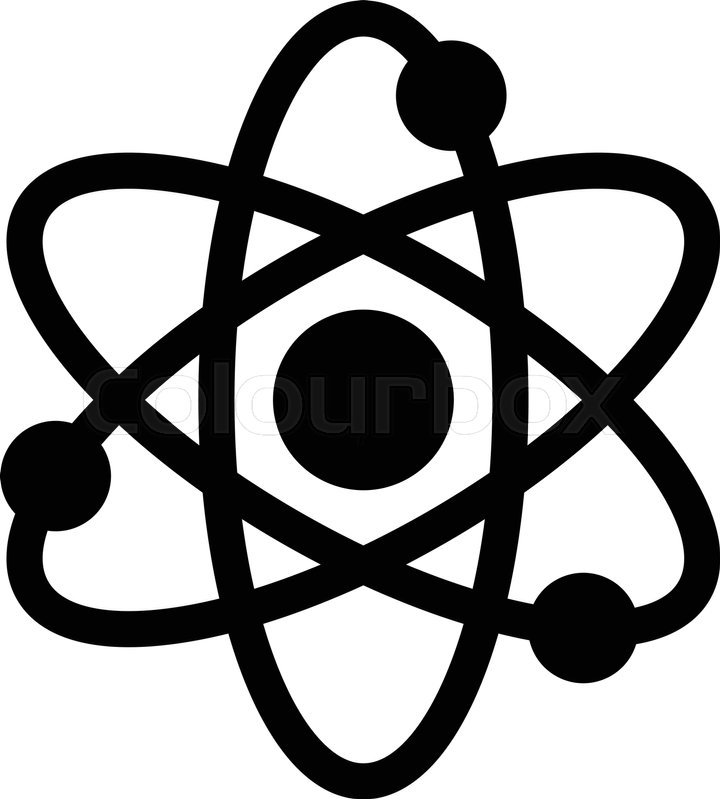 720x799 Dynamic Atom Molecule Science Symbol Vector Icon Stock Vector