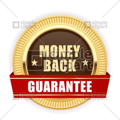 400x400 Golden Medal Money Back Guarantee Vector Image