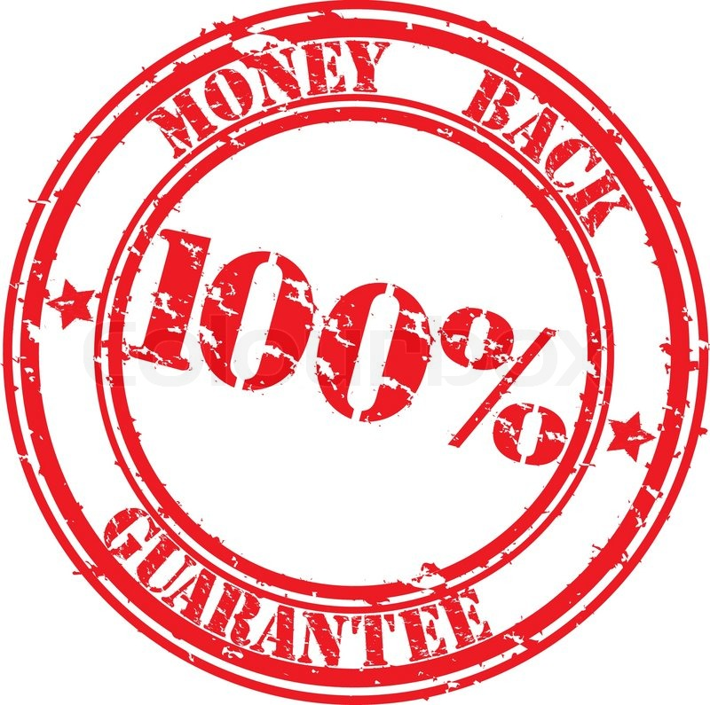 800x795 Grunge 100 Percents Money Back Guarantee Rubber Stamp, Vector