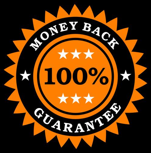 496x500 Money Back Guarantee Sticker Public Domain Vectors