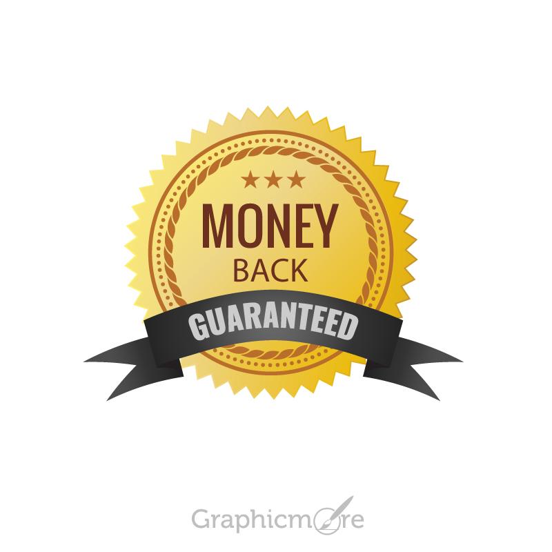 800x800 Money Back Guaranteed Badge Design Free Vector File