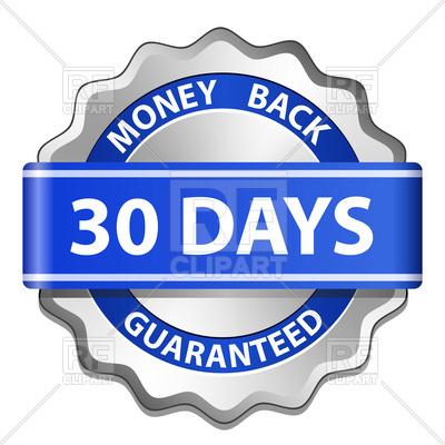 400x400 Money Back Guarantee Label Vector Image Vector Artwork Of Signs
