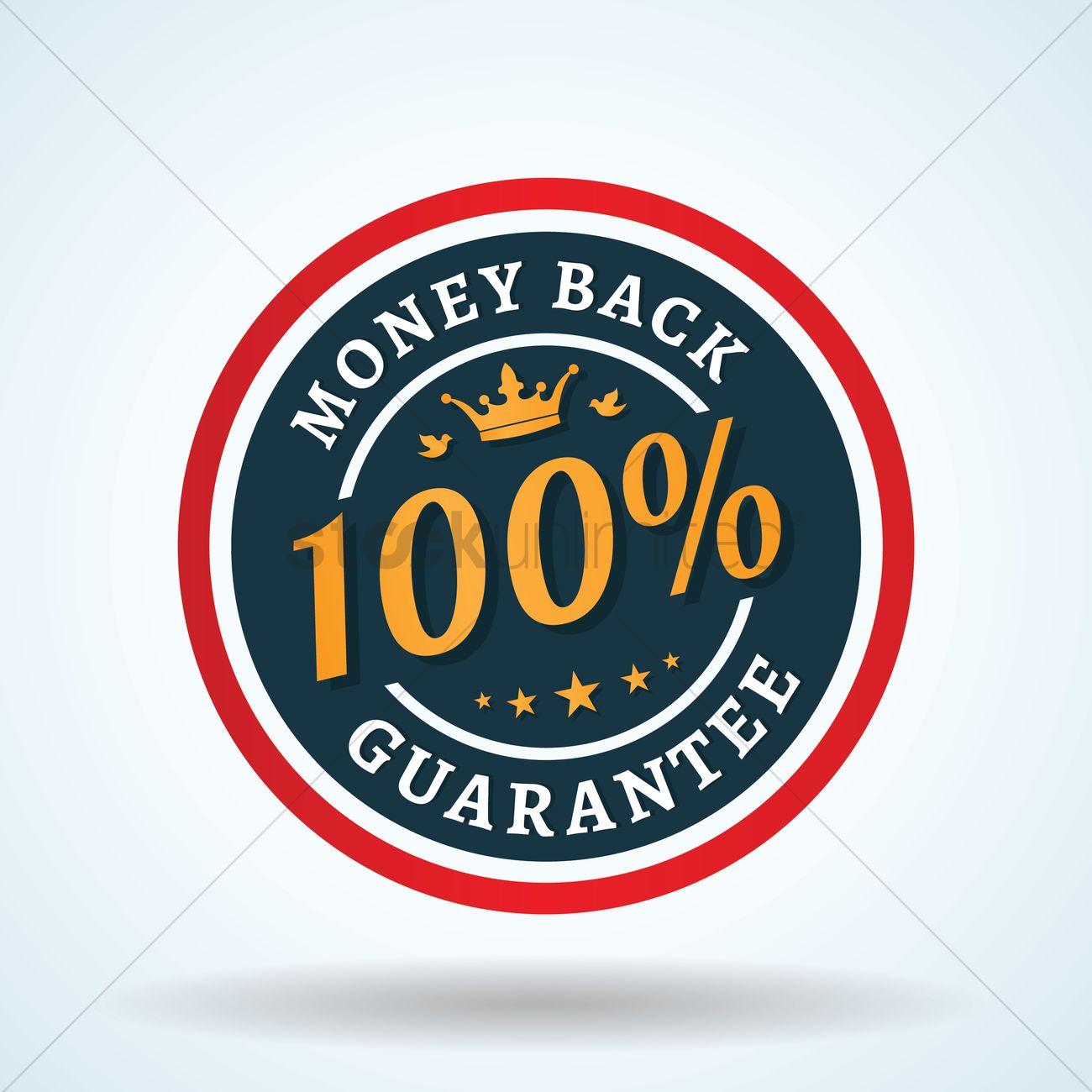 1300x1300 100percent Money Back Guarantee Vector Image