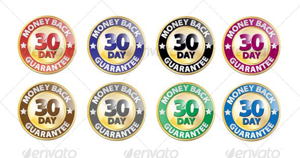 590x310 30 Day Money Back Guarantee Vector Icon Set By Grafiko Graphicriver