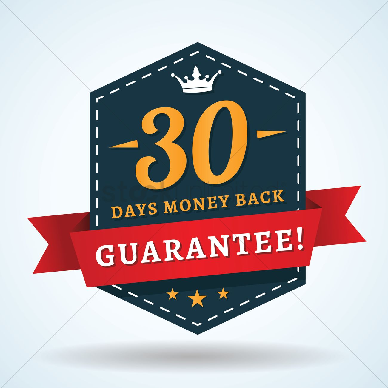 1300x1300 30 Days Money Back Guarantee Vector Image