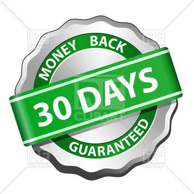 400x400 30 Days Money Back Guarantee Sign Vector Image Vector Artwork Of