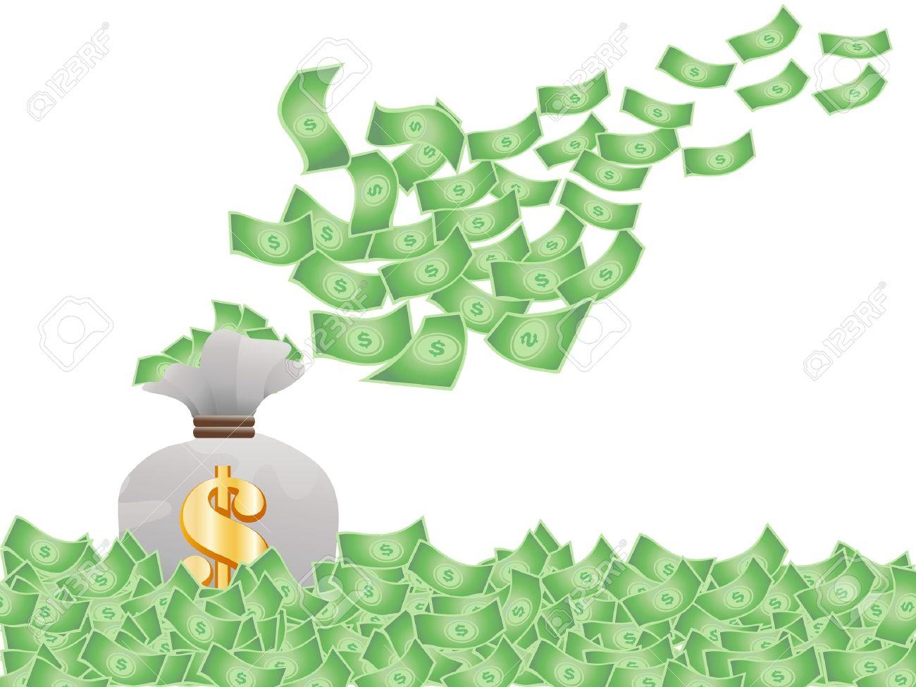 1300x975 Clipart Flying Money Amp Clip Art Flying Money Images