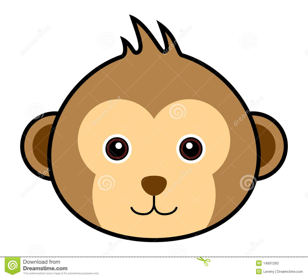 Monkey Face Vector