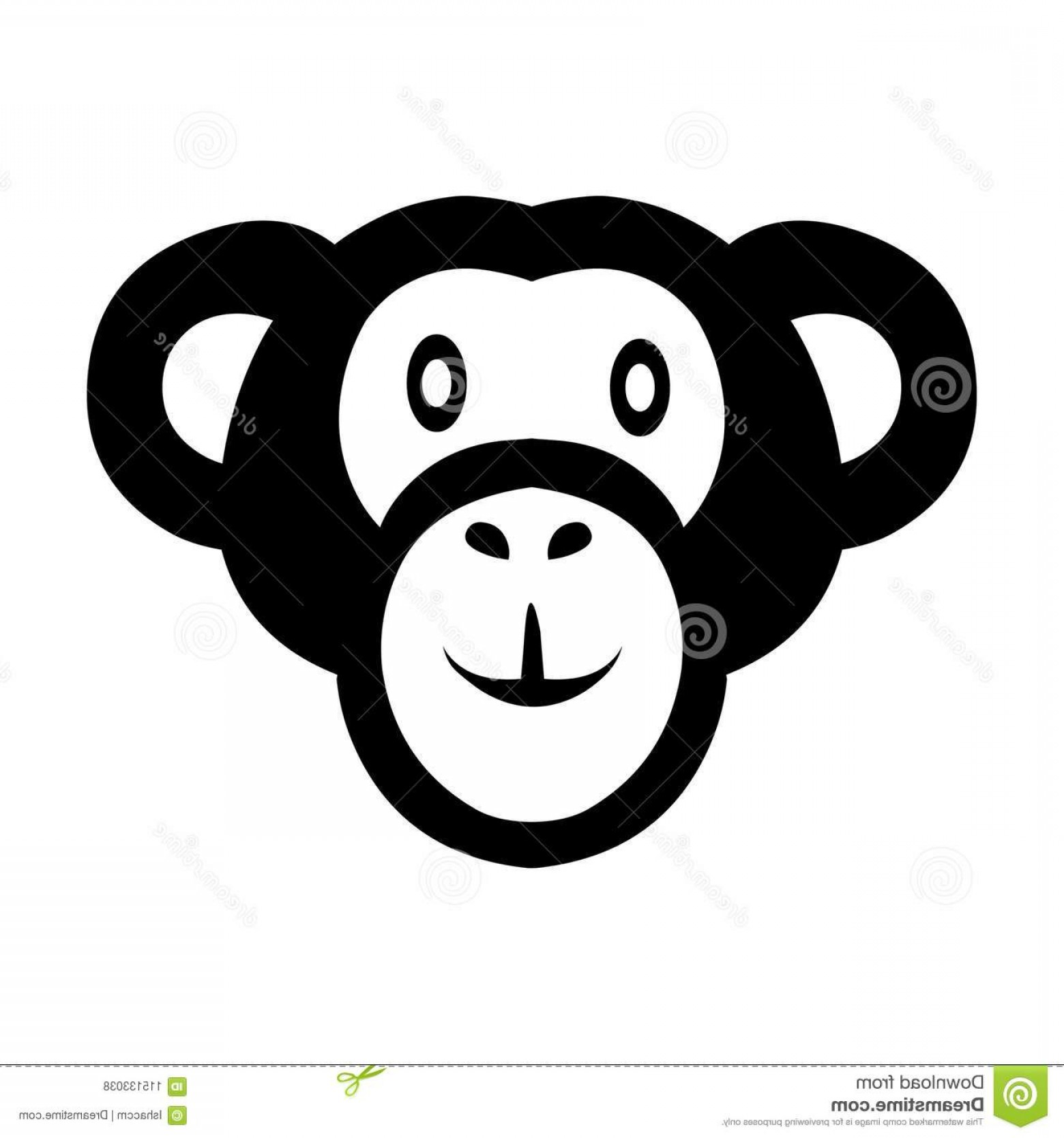 1560x1668 Monkey Icon Vector Logo Monkey Animal Face Vector Monkey Face