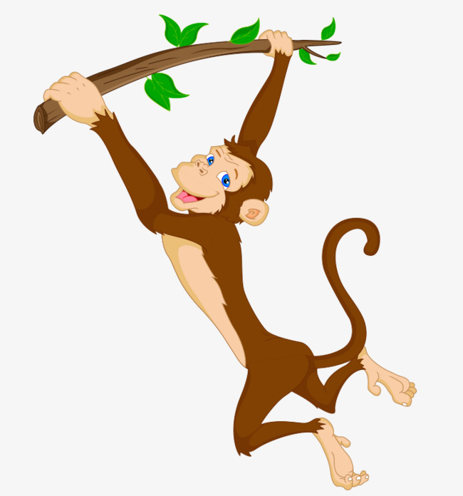 650x696 Jumping Monkey, Monkey Vector, Vector Material Png And Vector For