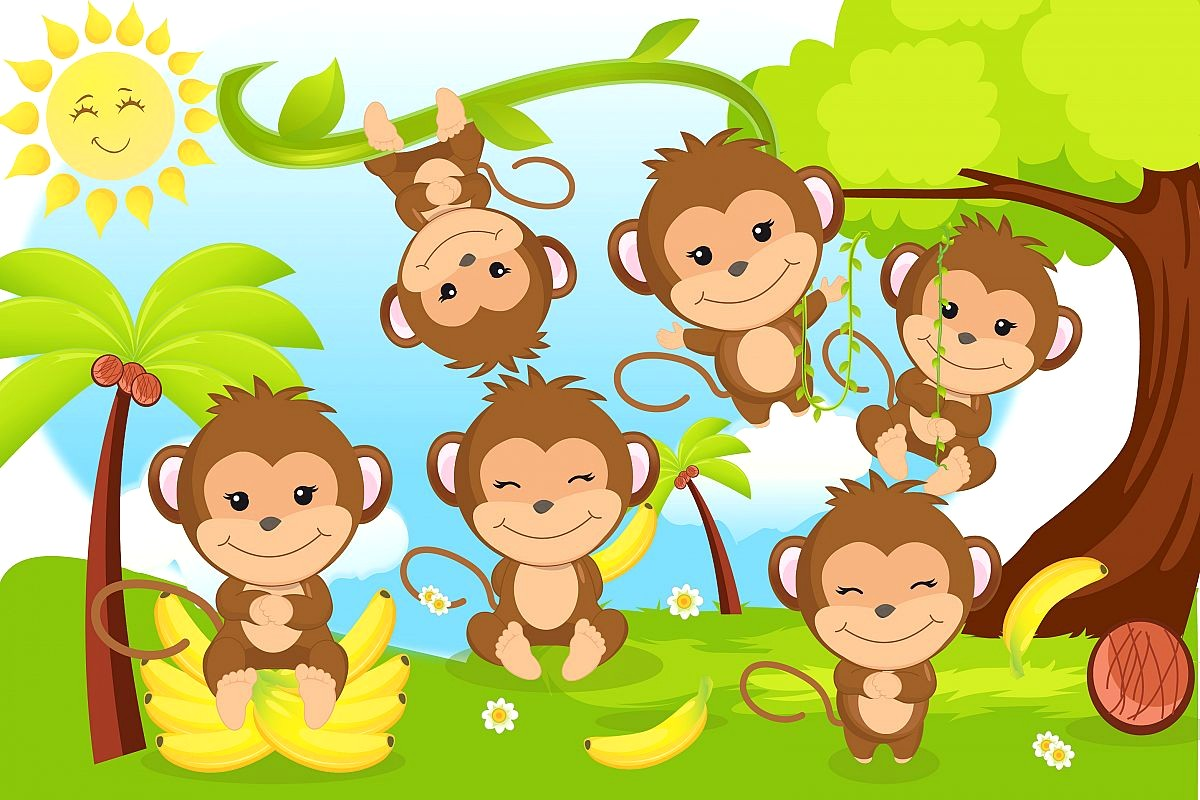 1200x800 Cute Monkey Vector 5a2bb43ff3ee24 15 Clip Art
