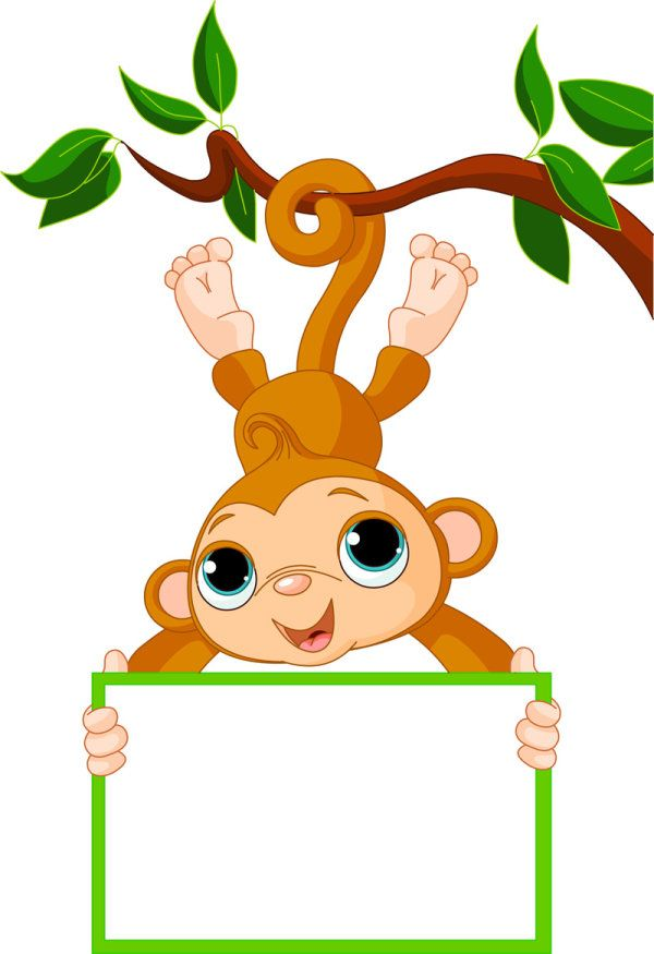 600x875 Cute Cartoon Monkey Vector 02