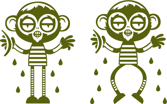 559x348 Cute Cartoon Monkey Vector Free Vector 4vector