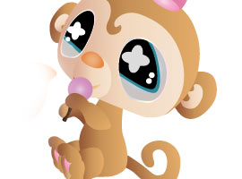 270x200 Free Monkey Vector Graphics