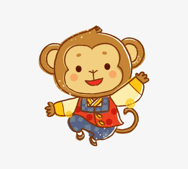 650x585 Hanbok Monkey Vector, Monkey Vector, Monkey Clipart, Hanbok Png