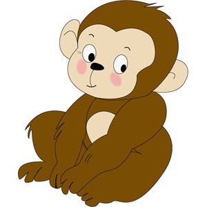300x300 Monkey Cartoon Vector Free Download