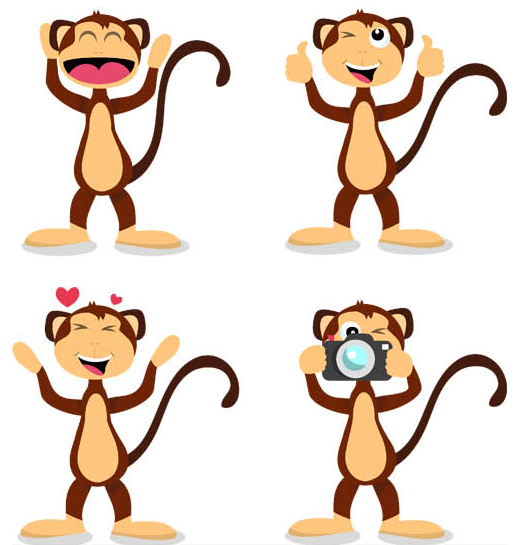 516x545 Tag Monkey Vector Free Downloads