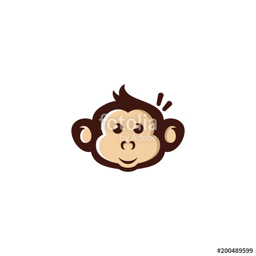 500x500 Monkey Vector Icon Stock Image And Royalty Free Vector Files On