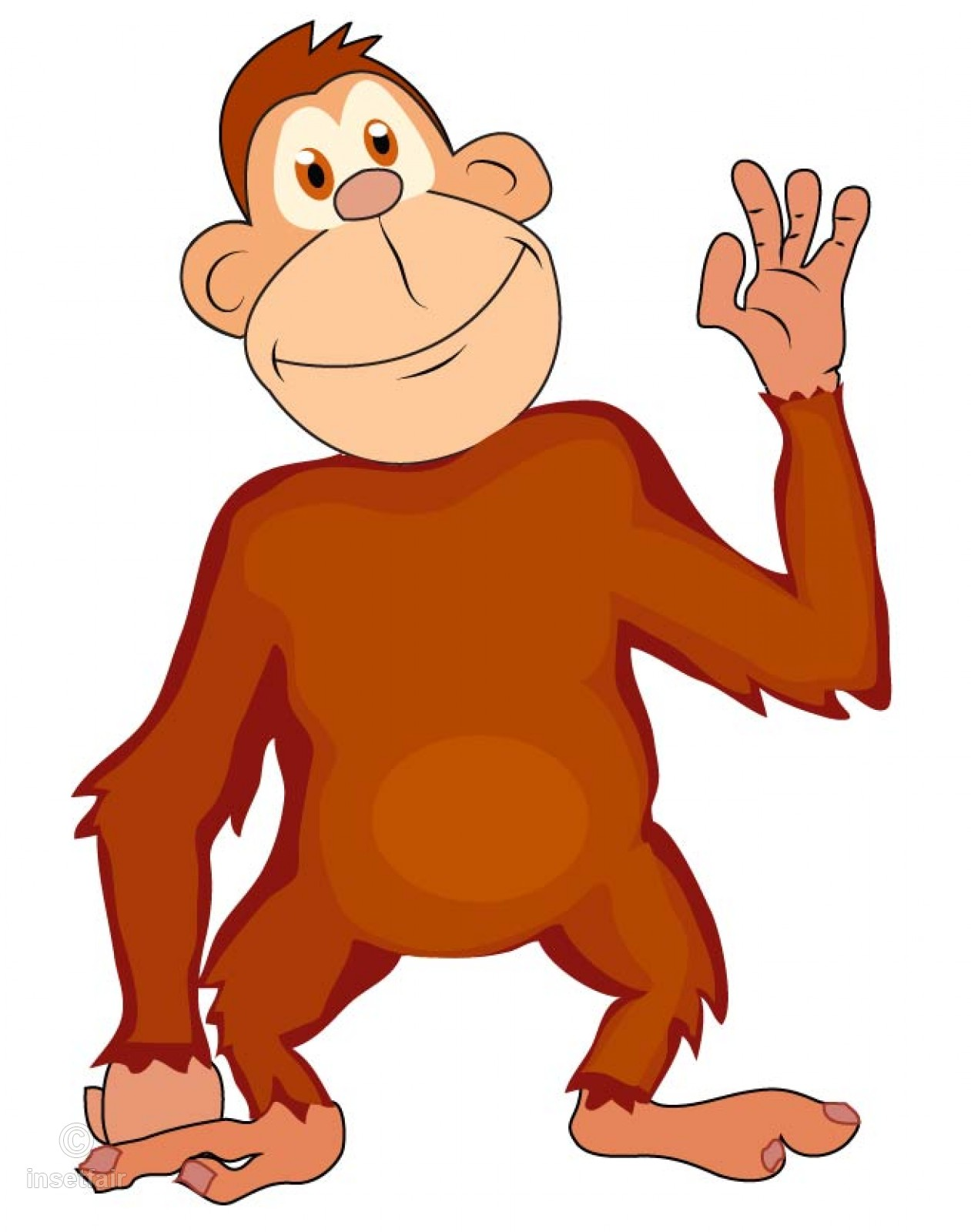 1261x1600 Cartoon Monkey Vector Image For Free