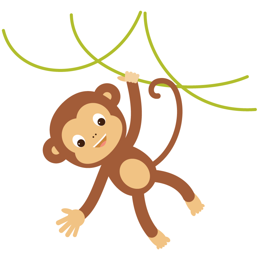 850x850 Collection Of Free Monkey Vector Hanging. Download On Ubisafe