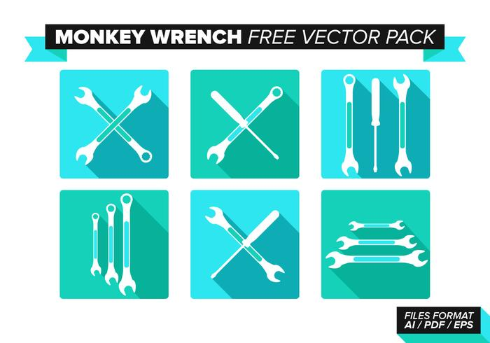 700x490 Monkey Wrench Free Vector Pack