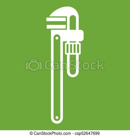 450x470 Pipe Or Monkey Wrench Icon Green. Pipe Or Monkey Wrench Icon White