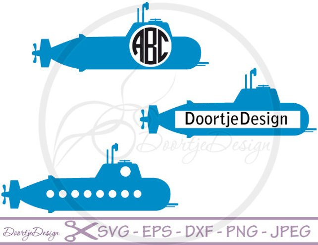 642x496 Monogram Frame Svg Submarine Vector Files Svg Files For Etsy