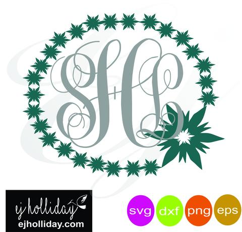 480x461 Snowflake Monogram Frame Svg Dxf Eps Png Vector Graphic Design